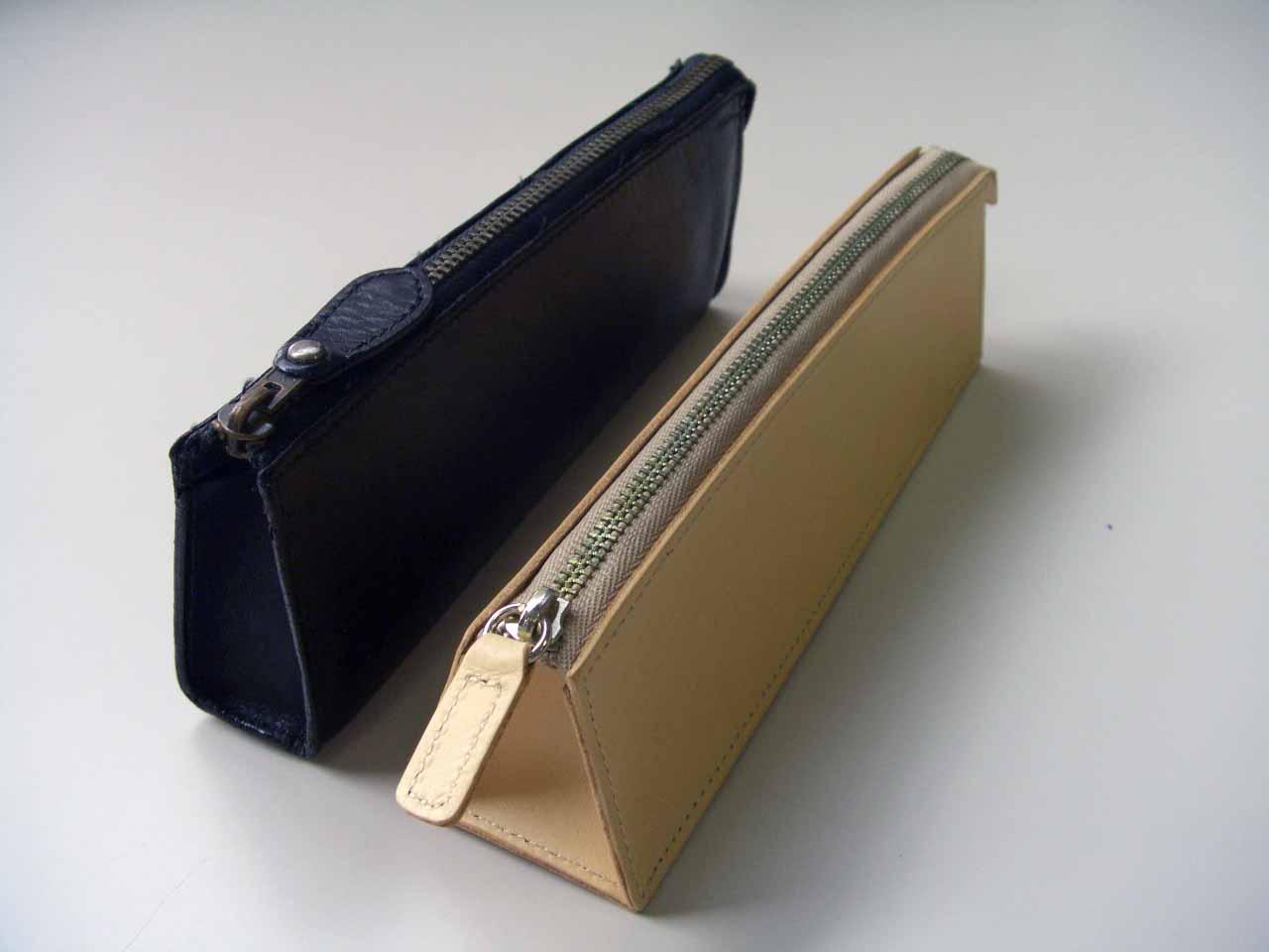 Cimg4813. 手持ちの黒革ペンケース ...